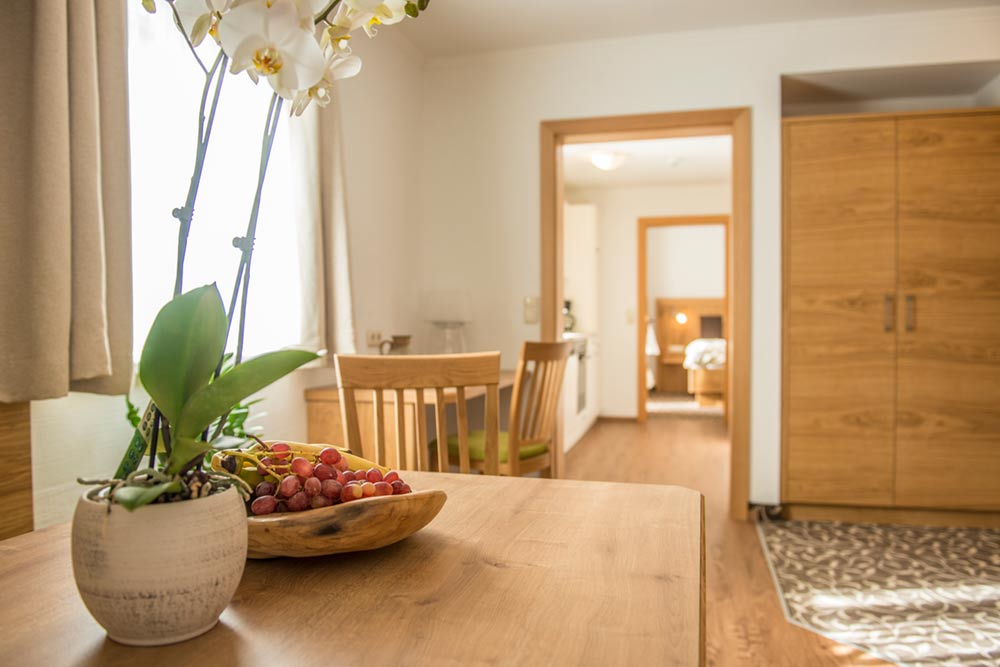 Blick ins Schlafzimmer Appartement Graukogel